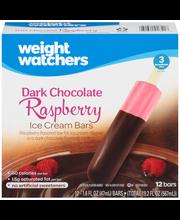 Weight Watchers Dark Chocolate Raspberry Ice Cream Bars 12-1....