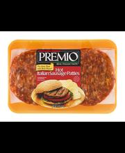 Premio Italian Sausage Patties Hot