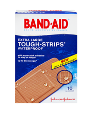 Band-Aid® Brand Tough Strips® Waterproof Extra Large All One ...