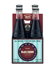 Boylan Bottleworks Brand Black Cherry Vintage Soda Pop - 4 CT
