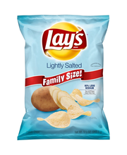 Lay's® Lightly Salted Family Size Potato Chips 9.5 oz. Bag