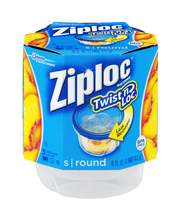 Ziploc® Twist n Loc® Small Round Containers 3 ct Sleeve
