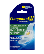 Compound W Wart Remover One Step Invisible Strips - 14 CT