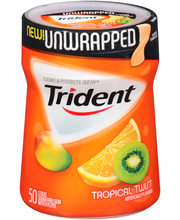 Trident Unwrapped Tropical Twist Sugar Free Gum with Xylitol ...