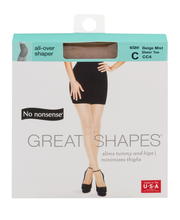 No nonsense Great Shapes All Over Shaper Size C Beige Mist Sh...