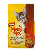 Meow Mix Tender Centers Salmon & White Meat Chicken Flavors D...