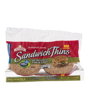 Brownberry Sandwich Thins Whole Wheat Flax & Fiber - 8 CT