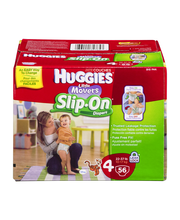 HUGGIES Little Movers Slip On Size 4 Diapers 56 ct Pack