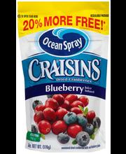 Ocean Spray® Craisins® Blueberry Dried Cranberries 6 oz. Pouch