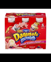 Dannon® Danimals® Lowfat Yogurt Smoothie Swingin' Strawberry ...