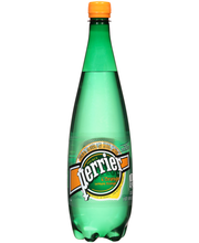 PERRIER Sparkling Natural Mineral Water, L'Orange 33.8-ounce ...