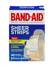 Band-Aid Sheer Strips Assorted - 40 CT