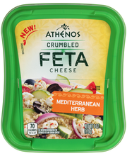 Athenos Crumbled Mediterranean Herb Feta Cheese 6 oz. Tub