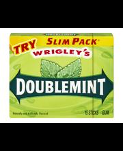 Wrigley's Doublemint Slim Pack Gum - 15 CT