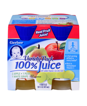 Gerber® Fruit Juice Variety Pack 4-4 fl oz Bottles