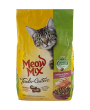 Meow Mix Tender Centers Salmon & Turkey Flavors with Vitality...