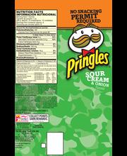 Pringles® Sour Cream & Onion Flavored Potato Crisps 5.96 oz. Box