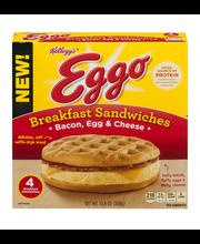 Kellogg's® Eggo® Bacon, Egg & Cheese Breakfast Sandwiches 4 c...