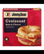 Jimmy Dean Croissant Sandwiches Ham & Cheese - 4 CT