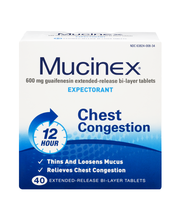 Mucinex® Extended-Release Bi-Layer Tablets Expectorant 40 ct Box