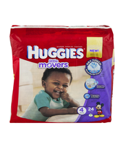 Huggies Diapers Little Movers Disney Baby Size 4 (22-37 lb) -...