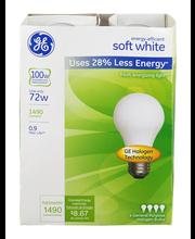 GE Energy Efficient Soft White 72 Watt General Purpose Haloge...