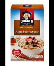 Quaker® Maple & Brown Sugar Instant Oatmeal 10-1.51 oz. Box