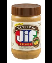 Natural Jif Creamy Peanut Butter Spread