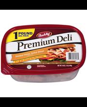 Buddig™ Premium Deli Smoked Honey Turkey Breast 16 oz. Tub