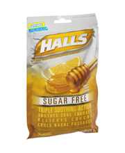 Halls Sugar Free Honey Lemon Cough Suppressant/Oral Anestheti...