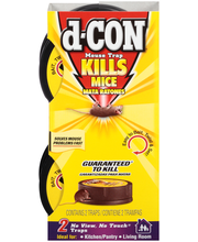 d-CON® No View, No Touch® Mouse Traps 2 ct Sleeve