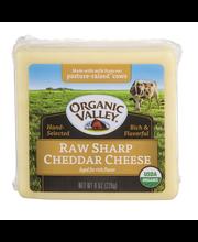 Organic Valley® Raw Sharp Cheddar Cheese 8 oz. Brick