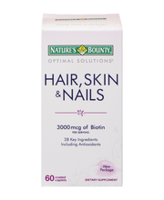 Nature's Bounty Optimal Solutions Hair, Skin & Nails Dietary ...