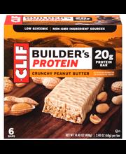 Clif Builder's® Crunchy Peanut Butter Protein Bar 6-2.4 oz. Bars