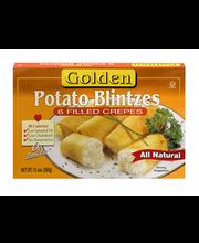 Golden Potato Blintzes Filled Crepes - 6 CT
