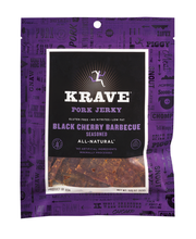 Krave Pork Jerky Black Cherry Barbecue Seasoned