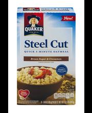 Quaker® Steel Cut Brown Sugar & Cinnamon Quick 3-Minute Oatme...