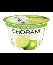 Chobani® Key Lime Blended 2% Low-Fat Greek Yogurt 5.3 oz. Cup
