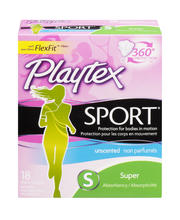 Playtex® Sport® Super Absorbency Unscented Plastic Tampons 18...