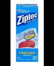 Ziploc® Double Zipper Quart Freezer Bags 19 ct Box