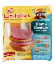 Lunchables Ham & Cheddar Cracker Stackers Lunch Combination 3...