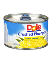 Dole® Crushed Pineapple in 100% Pineapple Juice 8 oz. Can