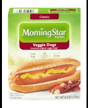 MorningStar Farms® Veggie Classics Veggie Dogs 6 ct Box