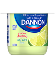 Brand Dannon® Blended Whole Milk Yogurt Key Lime 5.3 oz. Sing...