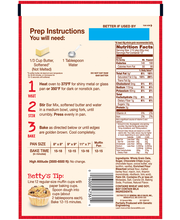 Betty Crocker™ Chocolate Chip Chewy Oat Bar Mix 13.75 oz. Pouch