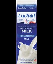 Lactaid 100% Lactose Free Reduced Fat  Milk 1 Qt Carton
