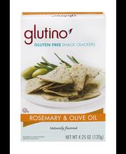 Glutino® Gluten Free Rosemary & Olive Oil Snack Crackers 4.25 oz. Box