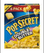 Pop-Secret® Double Butter Popcorn 6-3.2 oz. Bags