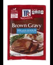 McCormick® Less Sodium Brown Gravy Mix, 0.87 oz