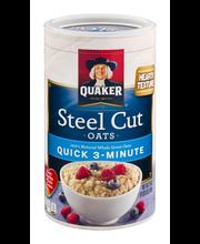 Quaker® Steel Cut Quick 3-Minute Oats 25 oz. Canister